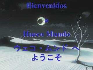 Bienvenidos  a  Hueco Mundo ウェコ・ムンド  へ ようこそ