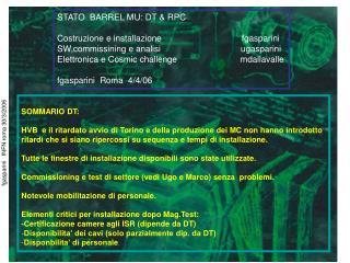 fgasparini   INFN roma 30/3/2006