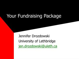 Your Fundraising Package