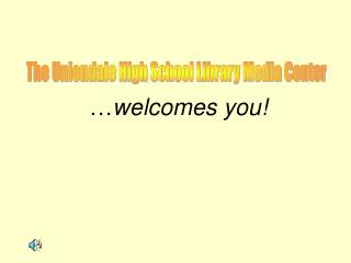… welcomes you!