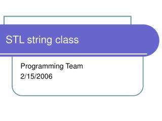 STL string class