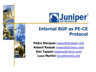 Internal BGP as PE-CE Protocol