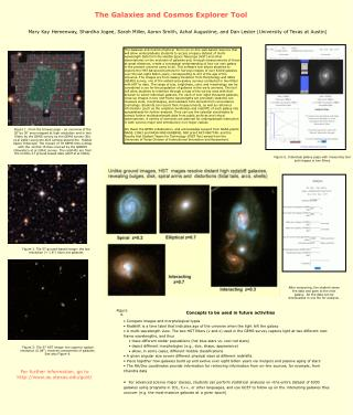 The Galaxies and Cosmos Explorer Tool