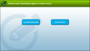 Select each alkylating agent to learn more .