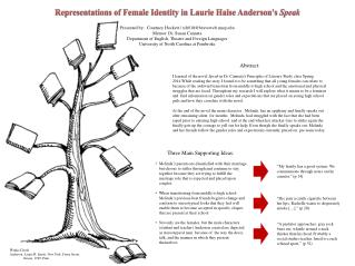 Representations of Female Identity in Laurie  Halse  Anderson's  Speak