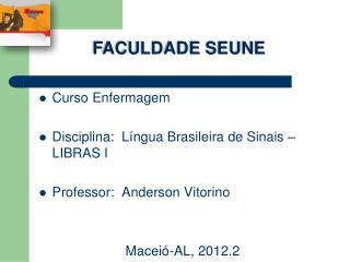 Curso Enfermagem Disciplina:  Língua Brasileira de Sinais – LIBRAS I Professor:  Anderson Vitorino