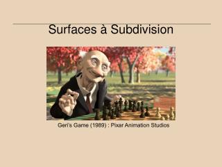 Surfaces   Subdivision