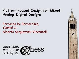 Platform-based Design for Mixed Analog-Digital Designs