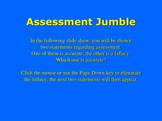 Assessment Jumble