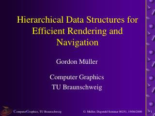 Hierarchical Data Structures for Efficient Rendering and Navigation