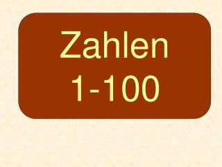 Zahlen 1-100