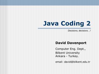 Java Coding 2