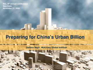 Preparing for Chinas Urban Billion