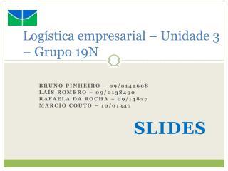 Logística empresarial  –  Unidade 3 –  Grupo 19N