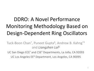 DDRO: A Novel Performance Monitoring Methodology Based on Design-Dependent Ring Oscillators