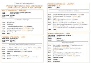 SAMEDI 22 SEPTEMBRE 2012   –   MATIN 06h30-08h30 Petit-déjeuner et check-out 08h30-13h00  Réunion