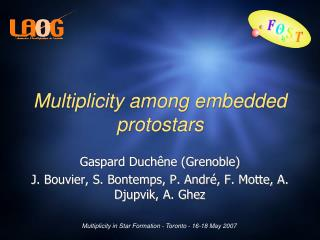 Multiplicity among embedded protostars