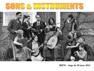 SONS & INSTRUMENTS