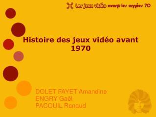 Histoire des jeux vidéo avant 1970