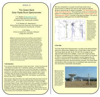 SH43A-16 The Green Bank  Solar Radio Burst Spectrometer
