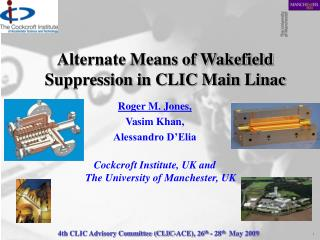 Alternate Means of Wakefield Suppression in CLIC Main Linac