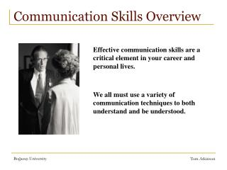 Communication Skills Overview