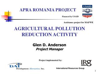 AGRICULTURAL POLLUTION REDUCTION ACTIVITY