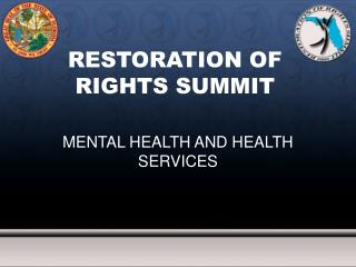 Mental Health and Health Services Presentation