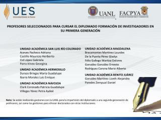 UNIDAD ACADÉMICA SAN LUIS RÍO  COLORADO Aceves Pacheco  Adriana Castillo Mauricio  Heriberto