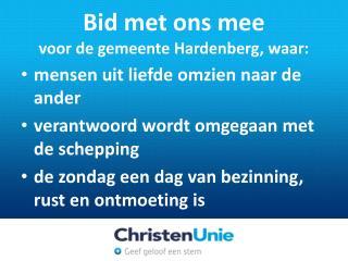 Bid met ons mee voor  de gemeente Hardenberg, waar: