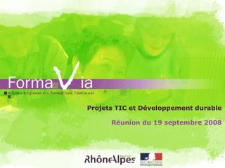 Projets TIC et Développement durable