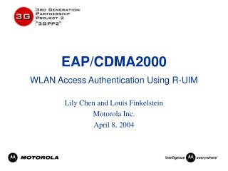 EAP/CDMA2000 WLAN Access Authentication Using R-UIM