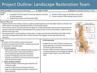Project Outline: Landscape Restoration Team