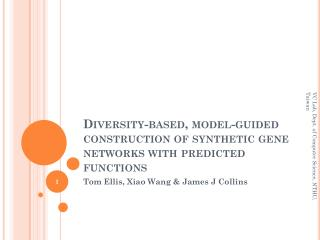 Diversity-based, model-guided construction of synthetic gene networks with predicted functions