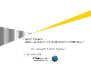 Islamic Finance  – Alternative  Finanzierungsmöglichkeiten für Unternehmen