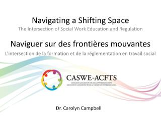 Navigating a Shifting Space The Intersection of Social Work Education and Regulation