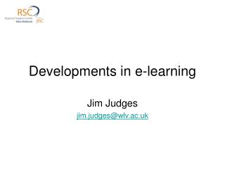 Developments in e-learning