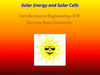 Solar Energy and Solar Cells