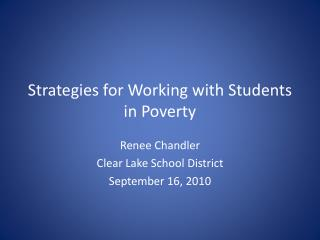 Strategies for Working with Students in Poverty