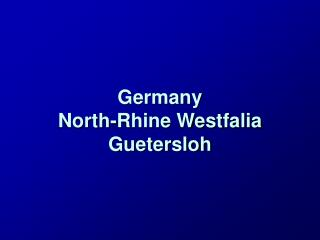 Germany North-Rhine Westfalia Guetersloh