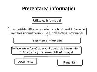 Prezentarea informaţ iei