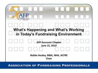What's Happening and What's Working in Today's Fundraising Environment