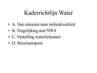 Kaderrichtlijn Water