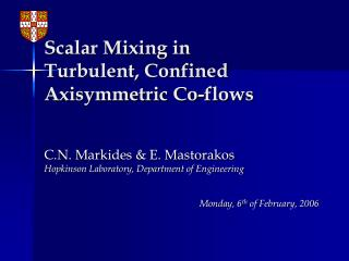 Scalar Mixing in Turbulent, Confined Axisymmetric Co-flows