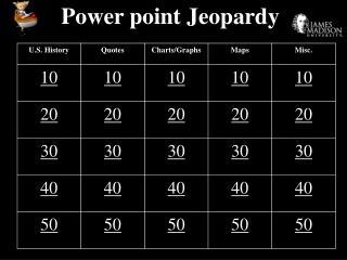 Power point Jeopardy