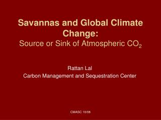 Savannas and Global Climate Change: Source or Sink of Atmospheric CO 2