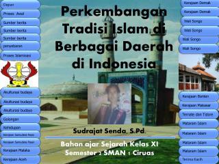 Perkembangan Tradisi Islam di Berbagai Daerah  di Indonesia