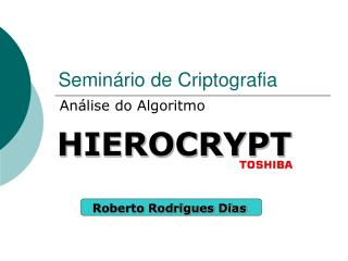 Seminário de Criptografia
