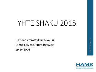 YHTEISHAKU 2015