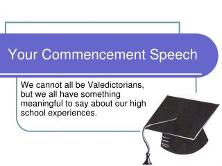 Your Commencement Speech
